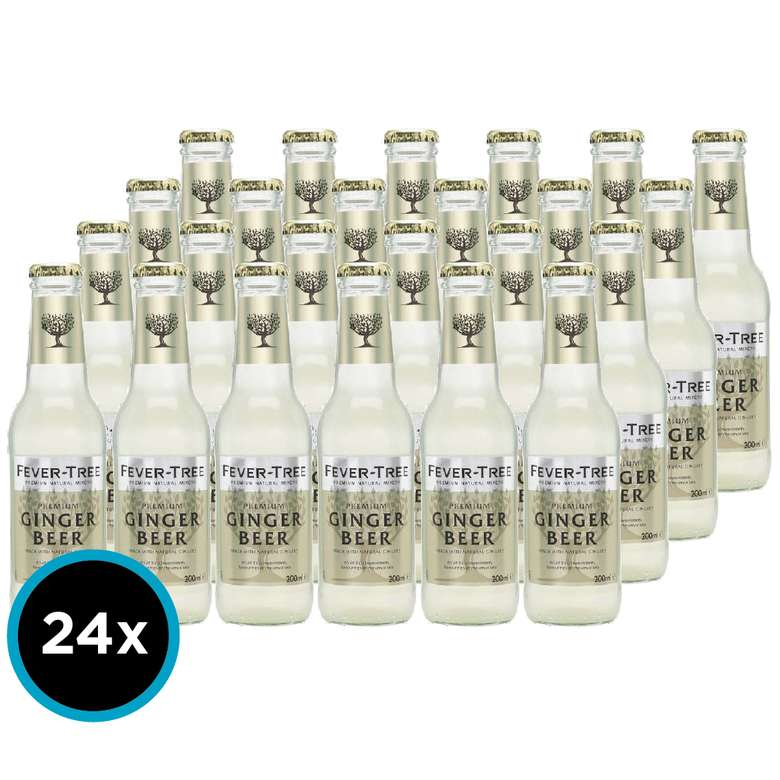24x Tonica Fever Tree Ginger Beer 200cc