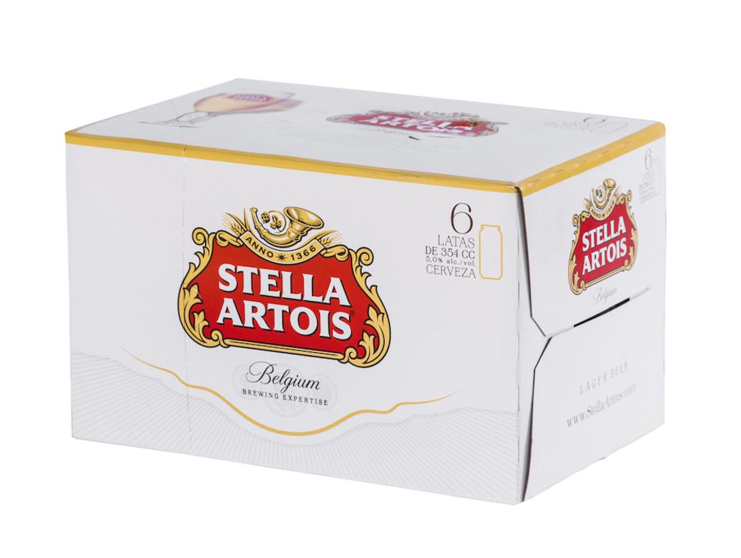 6x Cerveza Stella Artois en Latas 354cc