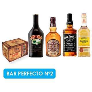 BAR PERFECTO N2: 12x Kunstmann Torobayo + Baileys + Chivas Regal 12 Años + Jack Daniels N7 + Jose Cuervo