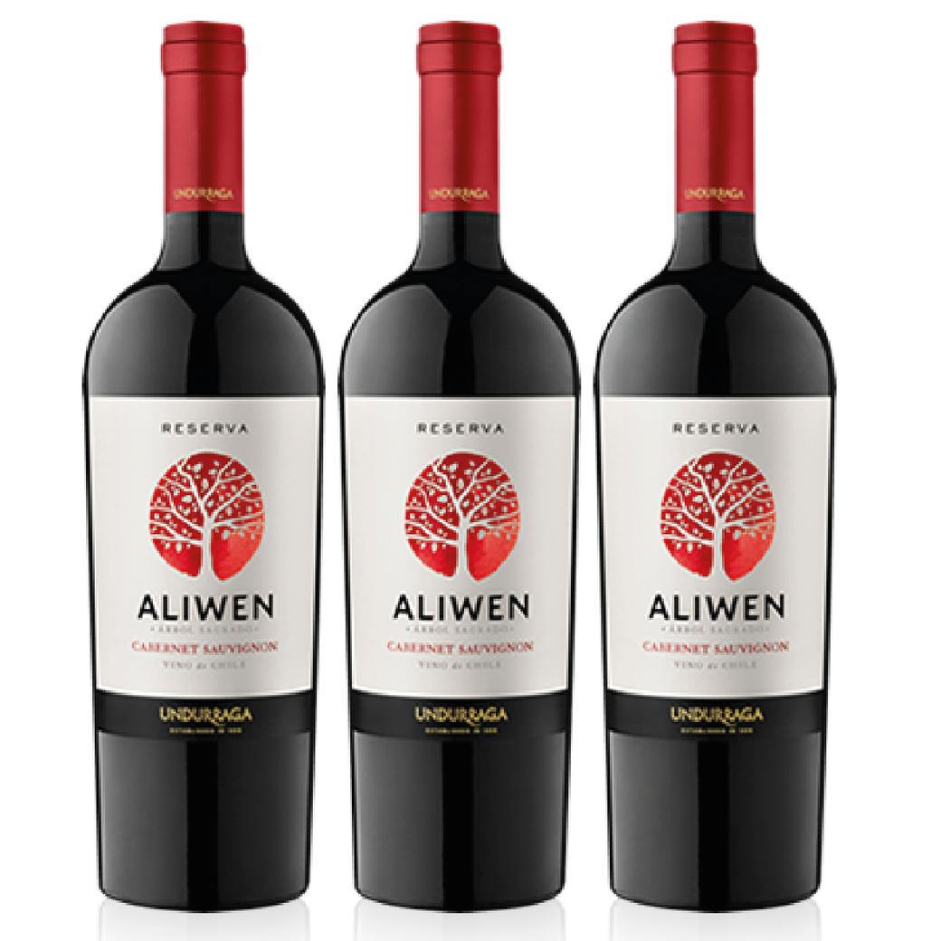 3x Vino Undurraga Aliwen Cabernet Sauvignon 750cc