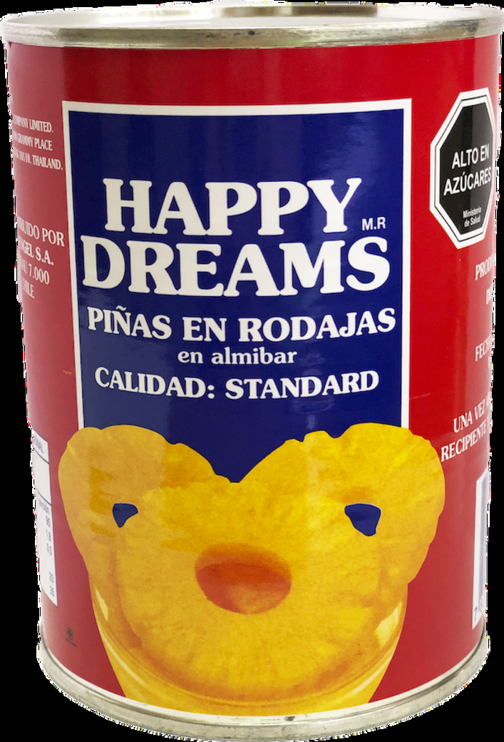 Piña Rodajas Happy Dreams 570 Gramos