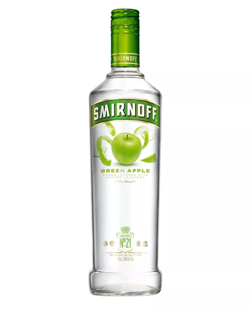 Vodka Smirnoff Green Apple 750cc