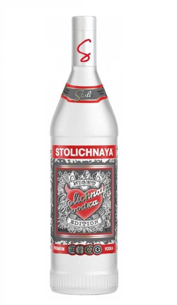 Vodka Stolichnaya Night Edition 750cc