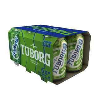 6x Cerveza Tuborg en Latas 330cc