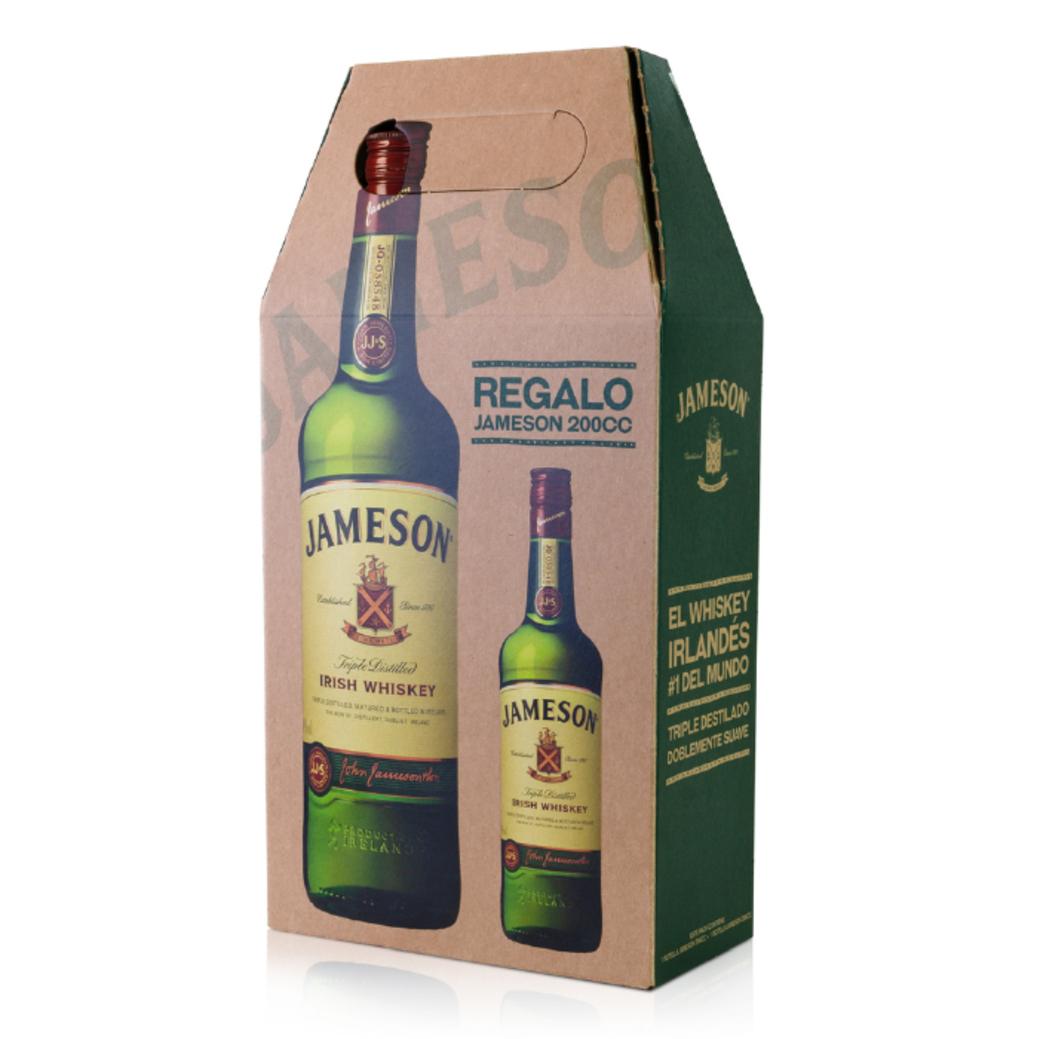 Whisky Jameson Irish Santard 40º 750cc + Petaca 200cc