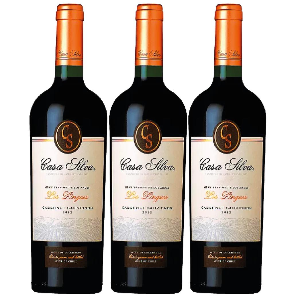 3x Vino Casa Silva Gran Terroir Cabernet Sauvignon 750cc