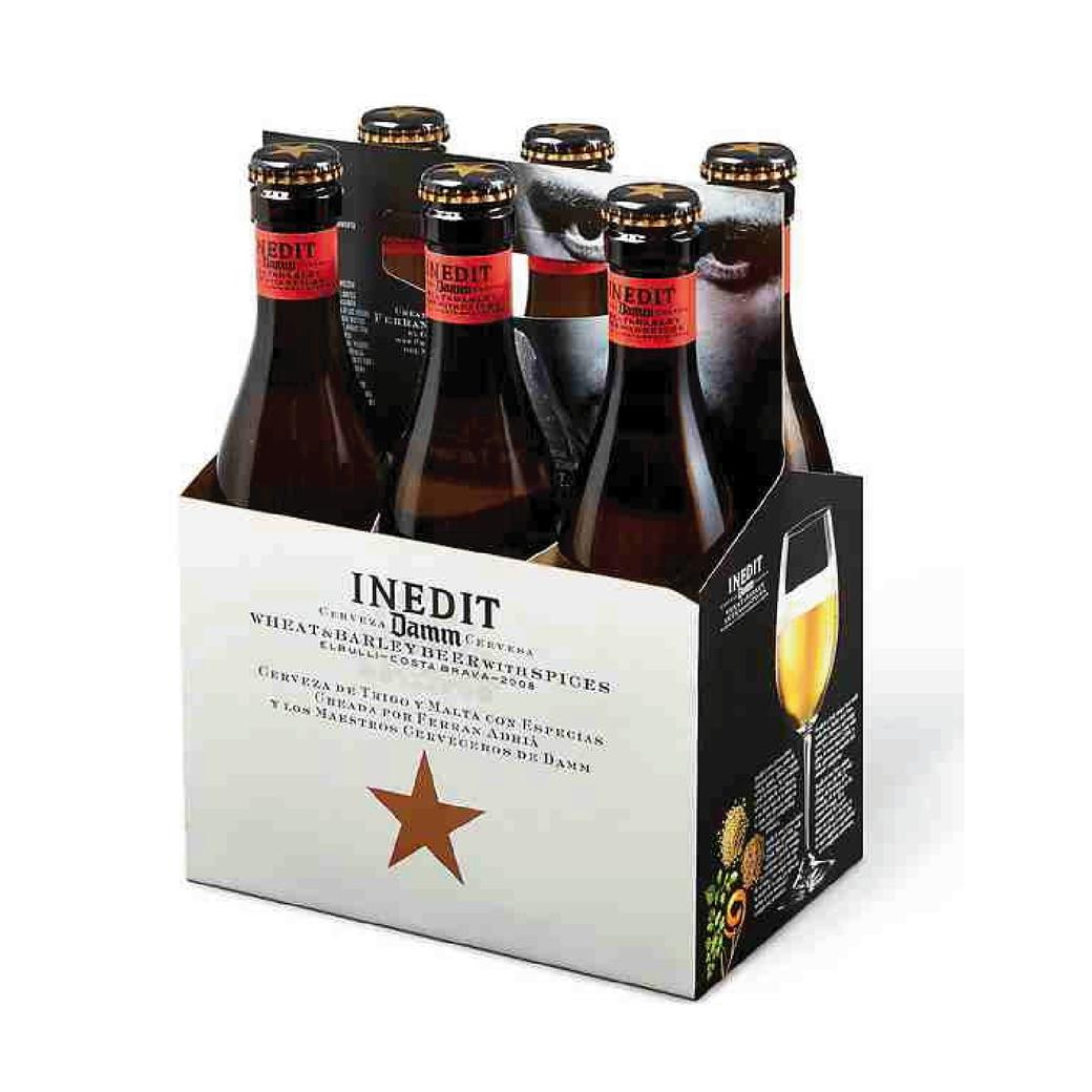 6x Cerveza Inedit en Botellas 330cc