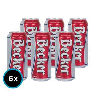 6x Cerveza Becker en Latas 473cc