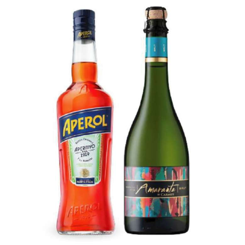 Licor Aperol 750cc + Champagne Amaranta Brut 750cc