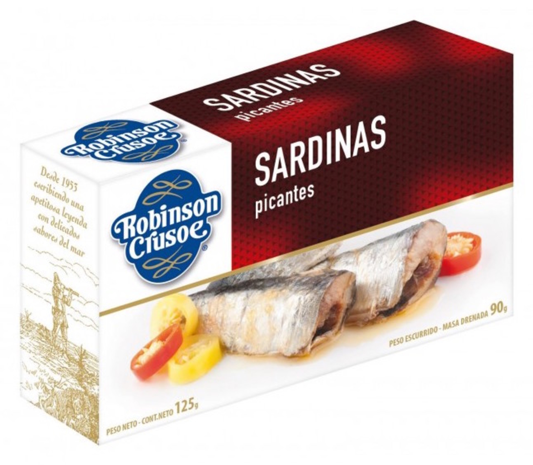 Sardinas Picantes en Aceite Robinson Crusoe 125 gramos