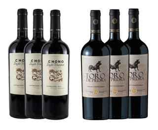 3x Vino Chono Single Vineyard Carmenere 750cc +  3x Vino Toro de Piedra Carmenere / Cabernet Sauvignon 750cc