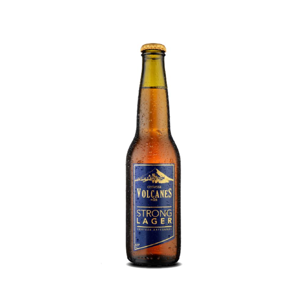 Cerveza Artesanal Volcanes del Sur Strong Lager 1050cc