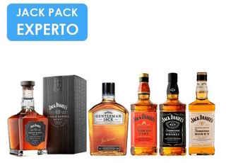 JACK PACK EXPERTO: Jack Daniels Single Barrel + Gentleman Jack + Jack Daniels Fire + Jack Daniels N7 + Jack Daniels Honey