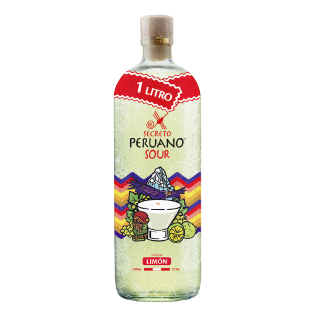 Pisco Sour Secreto Peruano Limón 1 Litro