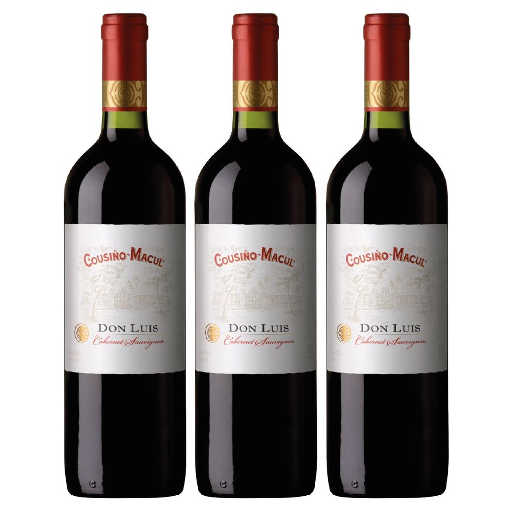 3x Vino Cousiño Macul Don Luis Cabernet Sauvignon 750cc
