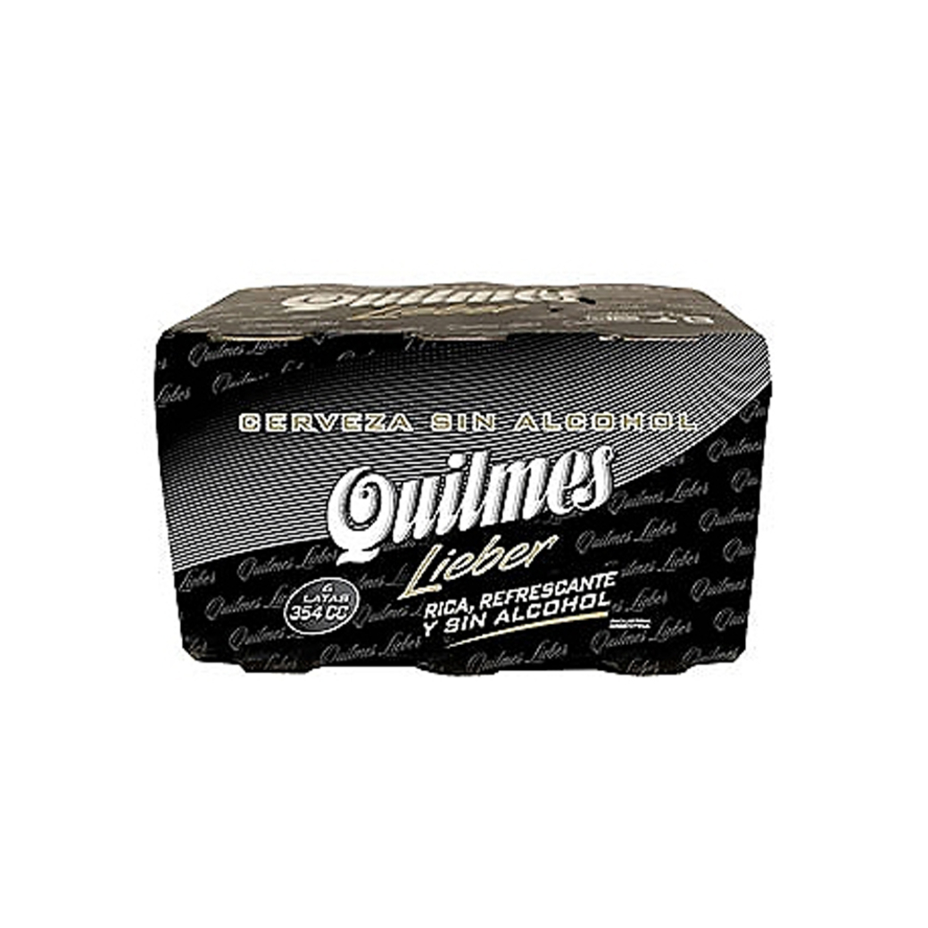 Cerveza Quilmes Lieber Sin Alcohol Six Pack latas de 354cc