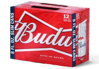 12x Cerveza Budweiser en Latas Slim 236cc