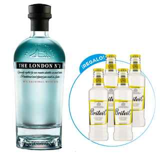 The London Gin Nº1 + 4x Britvic Agua Tónica 200cc de Regalo!