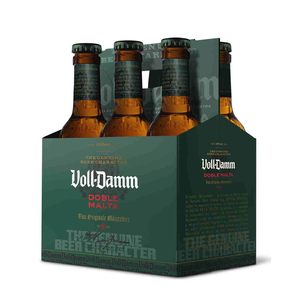 6x Cerveza Voll Damm Doble Malta en Botellas 330cc