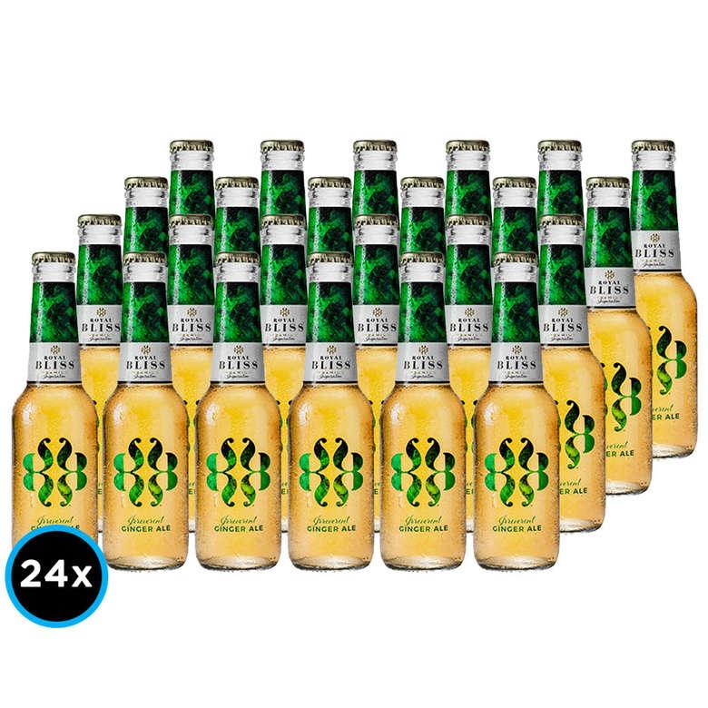 24x Bebida Premium Ginger Ale Royal Bliss 200cc