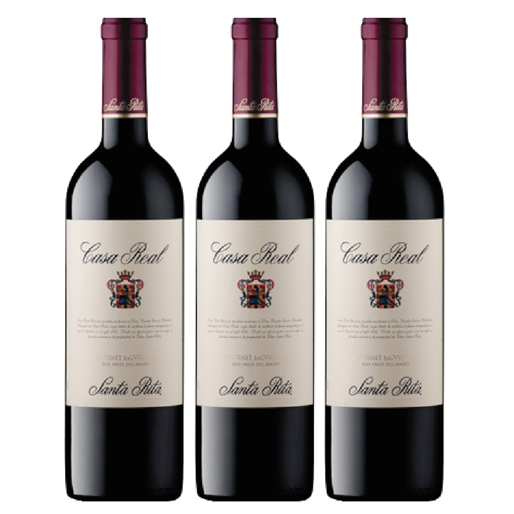 3x Vino Casa Real Cabernet Sauvignon 750cc