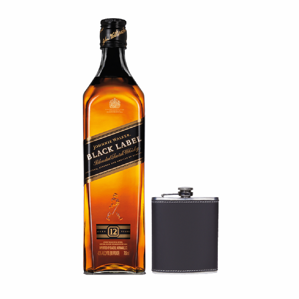 Johnnie Walker Black Label 750cc + Licorera