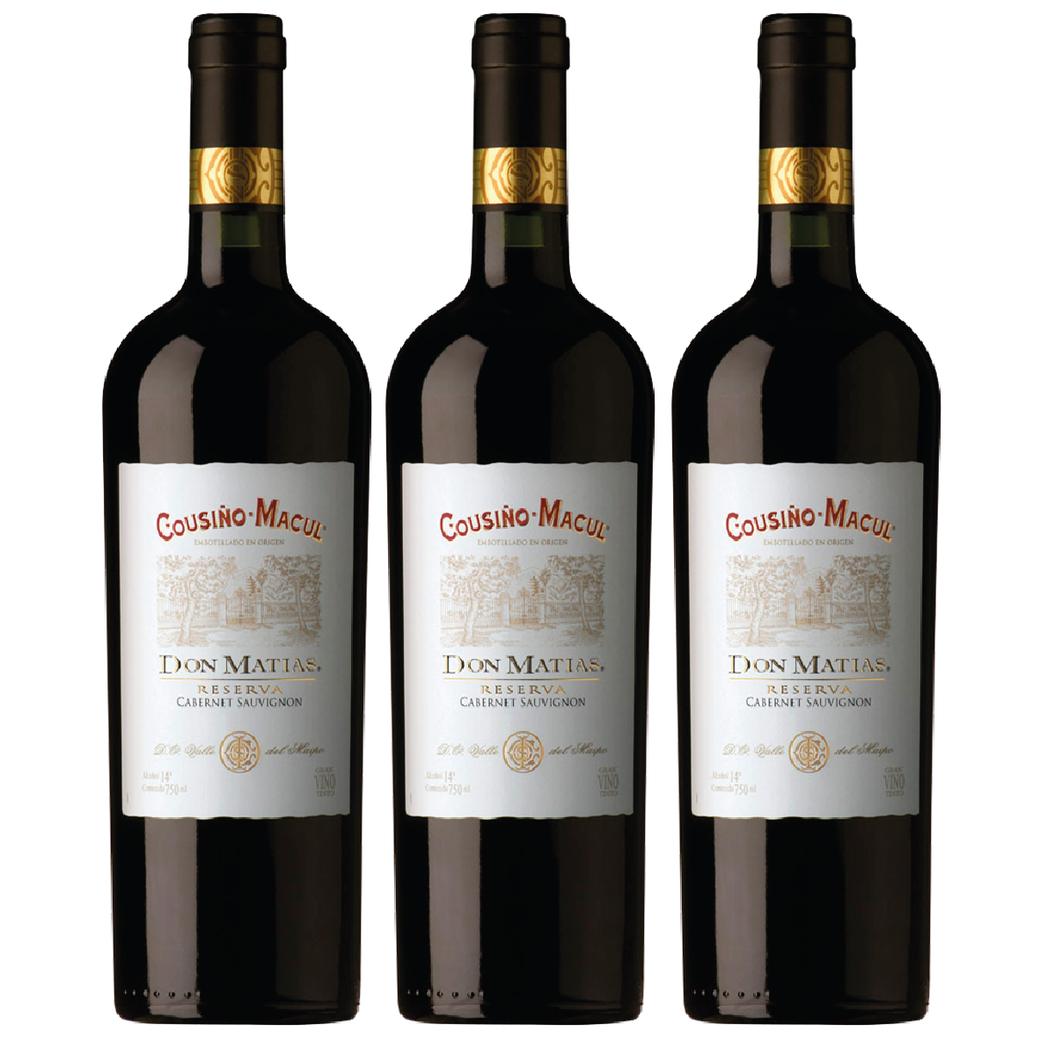 3x Vino Cousiño Macul Don Matias Cabernet Sauvignon 750cc