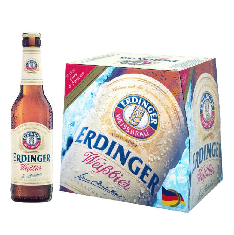 12x Cerveza Erdinger Weißbier en Botellas 330cc