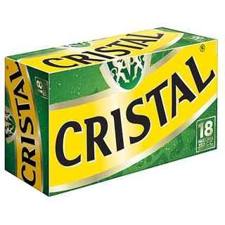 18x Cerveza Cristal en Lata 350cc