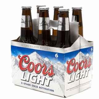6x Cerveza Coors Light en Botellas 350cc