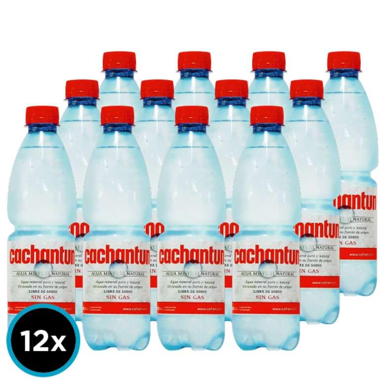 12x Agua Mineral Cachantun Sin Gas 500cc