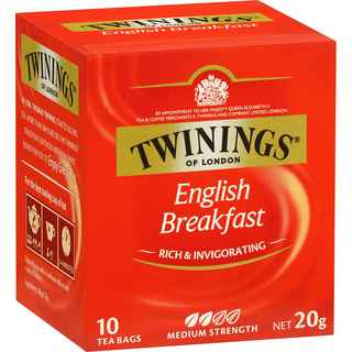 Té Twinings English Breakfast 10 Bolsitas