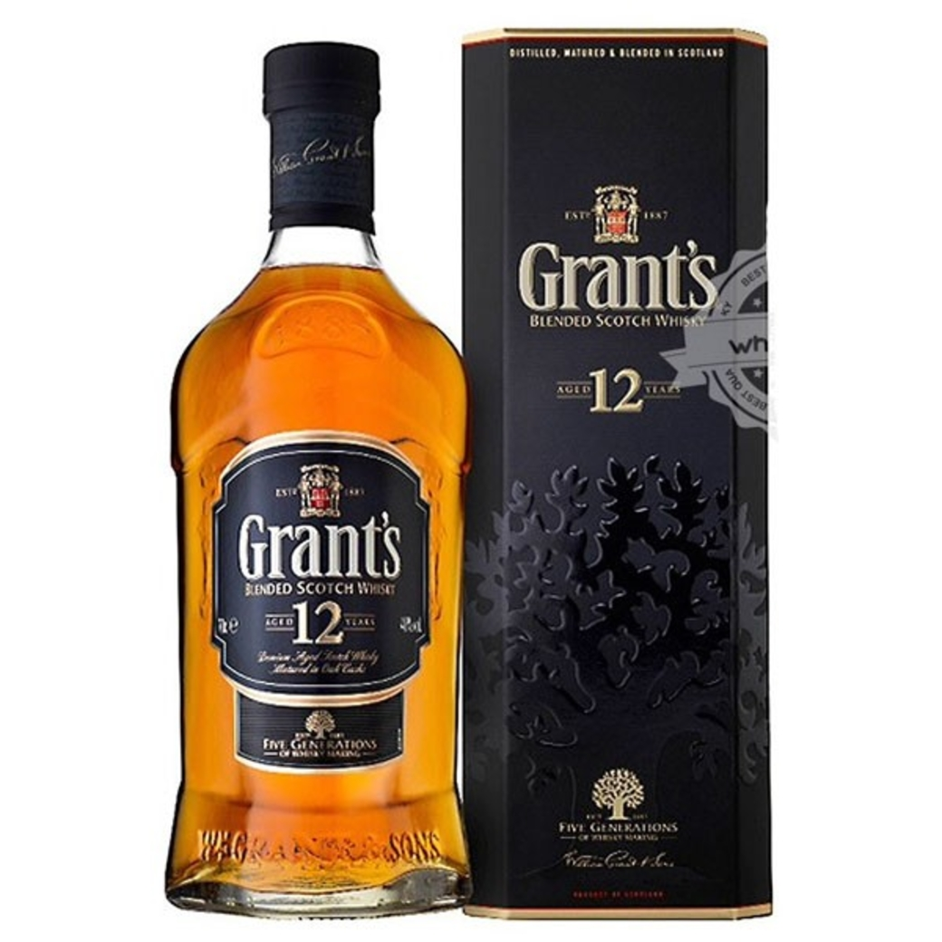 Whisky Grants 12 años 750cc 40º alc.