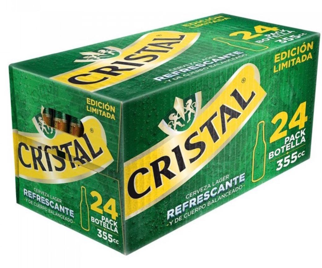 24x Cerveza Cristal en Botellas 355cc