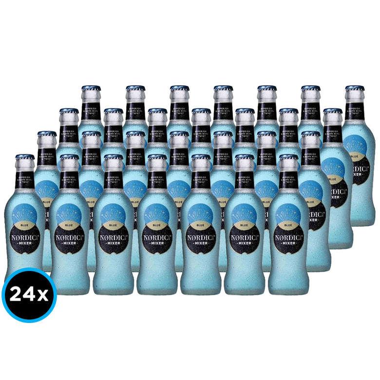 24x Bebida Premium Agua Tónica Nordic Mist Mixer Blue 200cc
