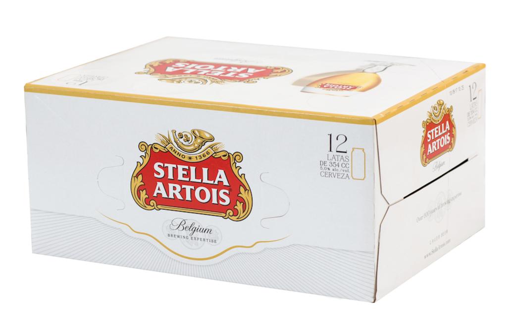 12x Cerveza Stella Artois en Latas 354cc