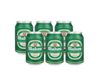 6x Cerveza Mahou Clásica en Latas 330cc
