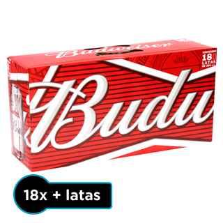 18x Cerveza Budweiser en Latas 355cc