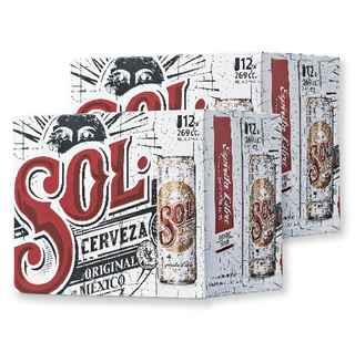 24x Cerveza Sol en Latas 269cc