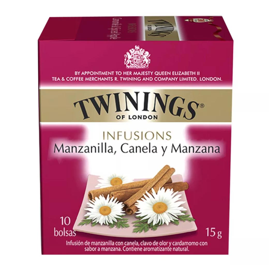 Te Twinings Manzanilla / Canela / Manzana 10 Bolsitas