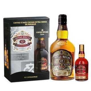 CHIVAS PACK: Whisky Chivas Regal 12 Años 750cc + Petaca Chivas Regal Extra 200cc
