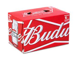 6x Cerveza Budweiser en Latas 350cc