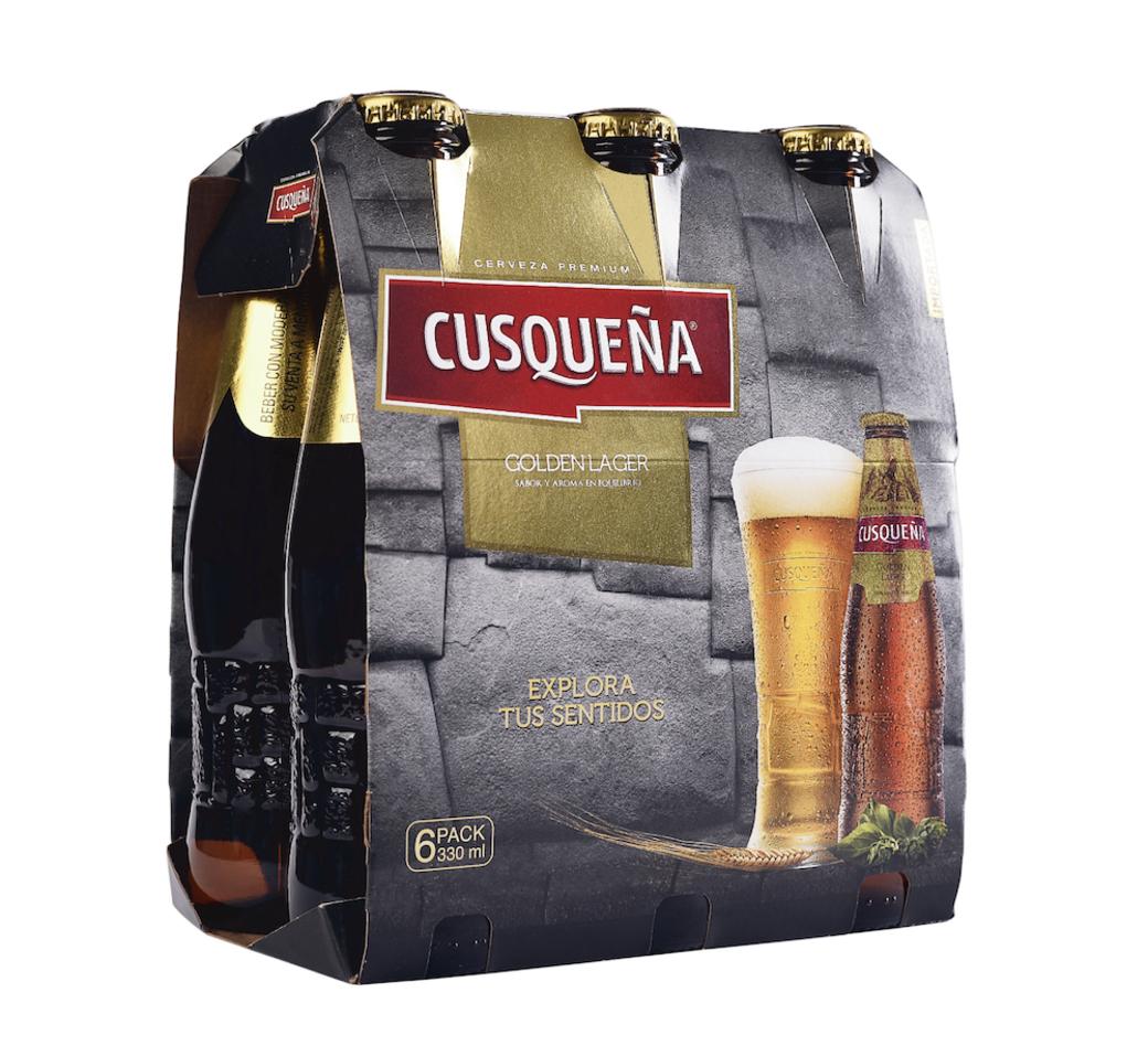 6x Cerveza Cusqueña Dorada en Botellas 330cc