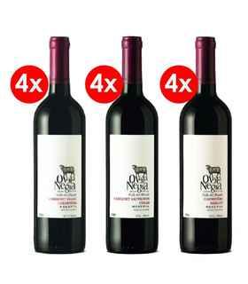 Pack Oveja Negra: 4x Cabernet Franc/Carmenere + 4x Cabernet/Syrah + 4x Carmenere/Merlot