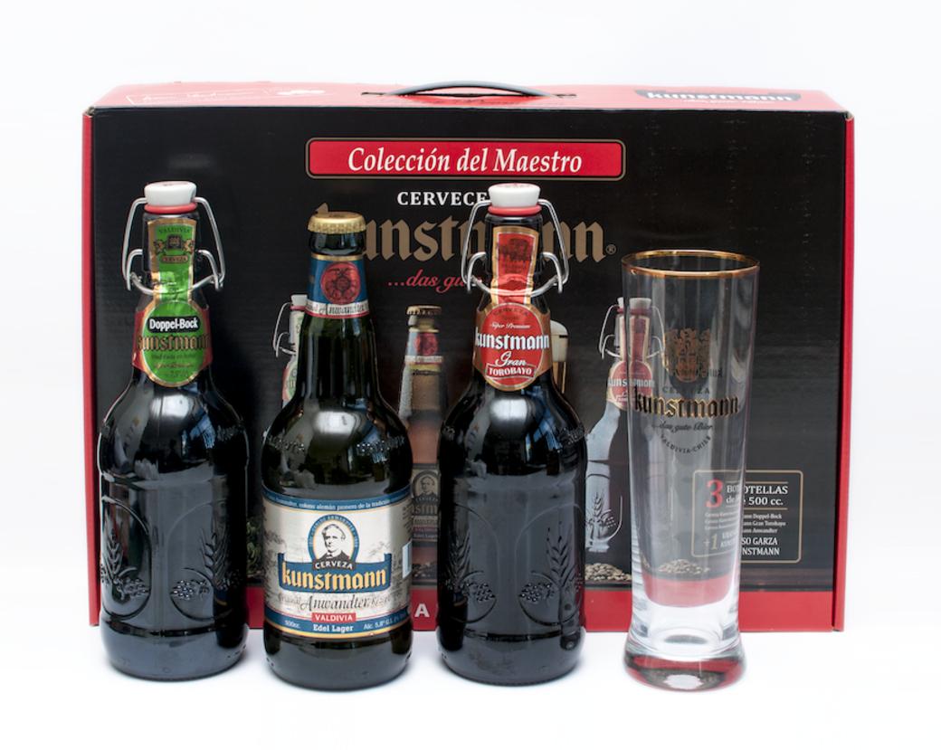 Maleta Kunstmann + Vaso: 3 Cervezas Premium + un Vaso