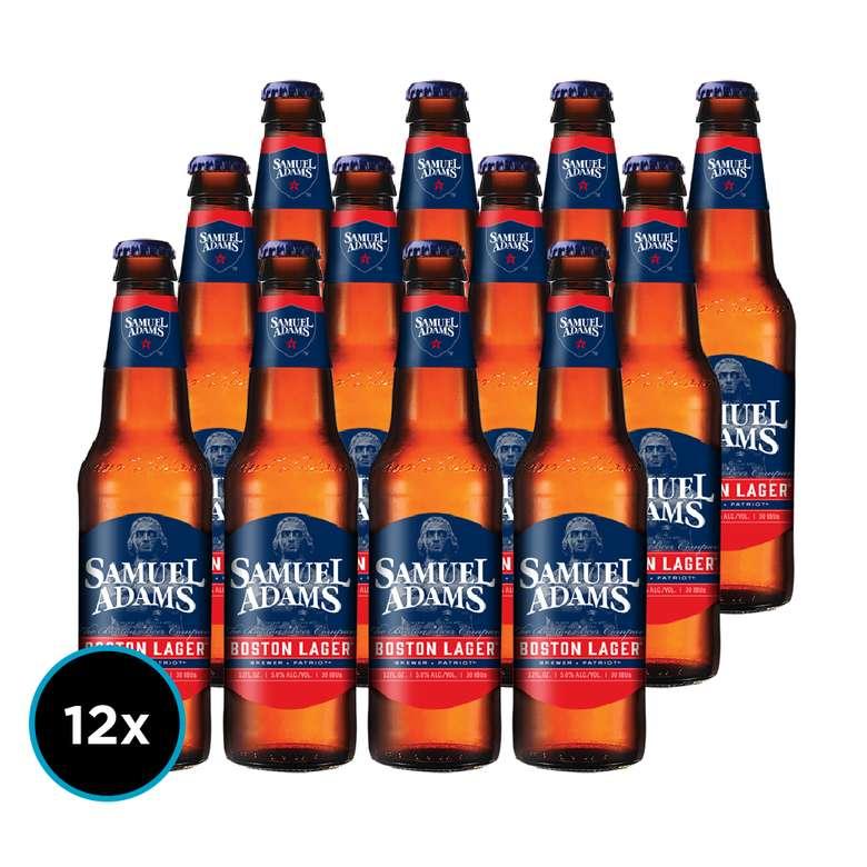 12x Cerveza Samuel Adams Boston Lager en Botella 355cc
