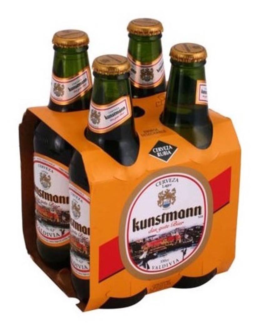 4x Cerveza Kunstmann Lager Botella 330cc
