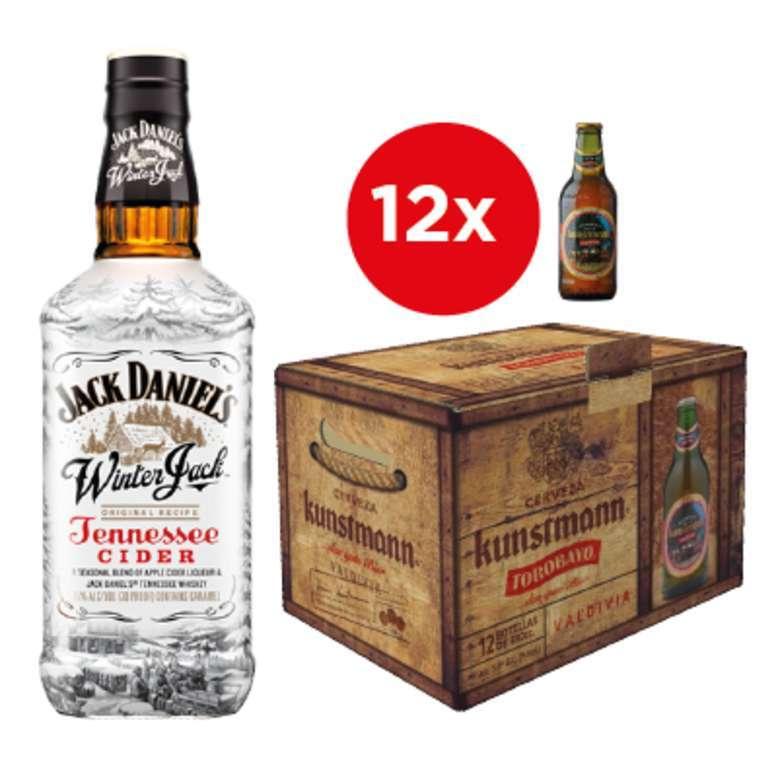 Jack Daniels Winter 750cc + 12x Cerveza Kunstmann Torobayo en Botellas 330cc