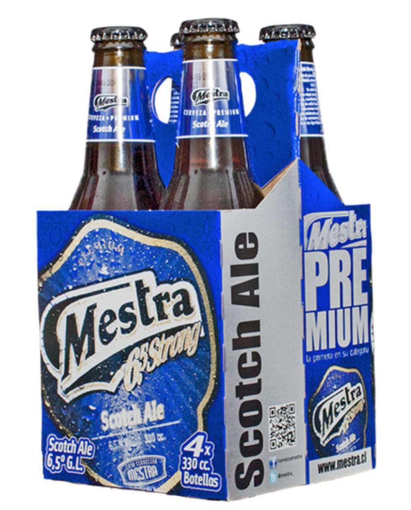 4x Cerveza Mestra Scotch en Botellas 330cc