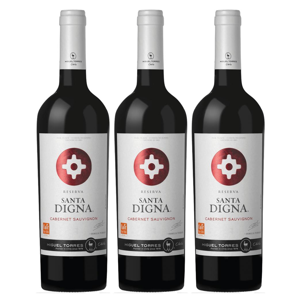 3x Vino Santa Digna Reserva Cabernet Sauvignon 750cc